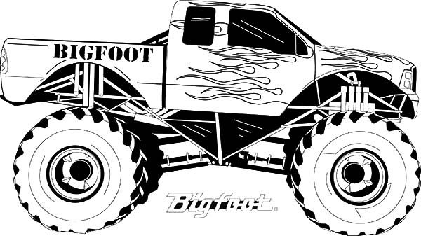 bigfoot presents coloring pages - photo#30