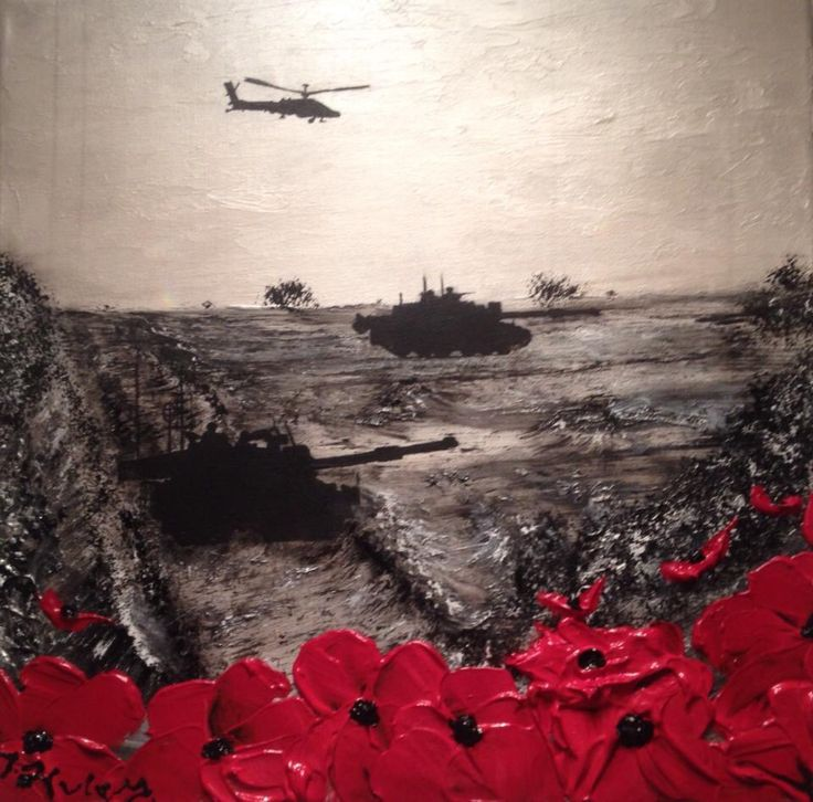 """Rise To The Challenge"" By Jacqueline Hurley War Poppy Collection No.18 Port Out, Starboard Home POSH Original Art"