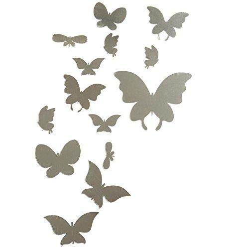 Oferta: 9.99€ Dto: -33%. Comprar Ofertas de Bonigar 3D Pegatinas Decorativas Efecto de Espejo Vinilo Mariposas Plata Extraíble Mosaico Decoración para Pared, Cristal, Pu barato. ¡Mira las ofertas!