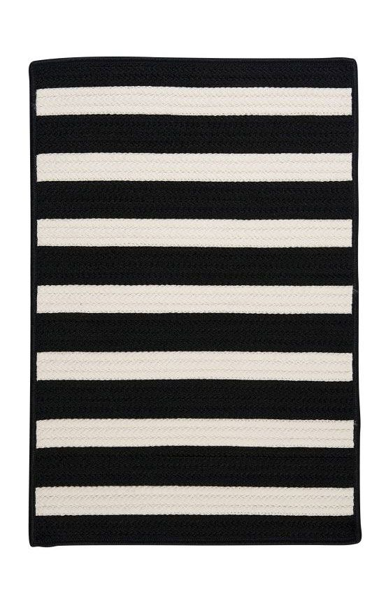 Colonial Mills Tr Outdoor Stripe It Braided Black White