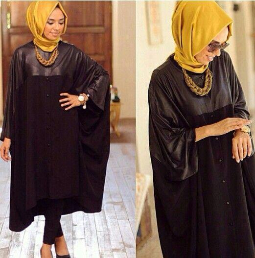 Mustard and Black | Hijab Fashion | Pinterest | Mustard and Black