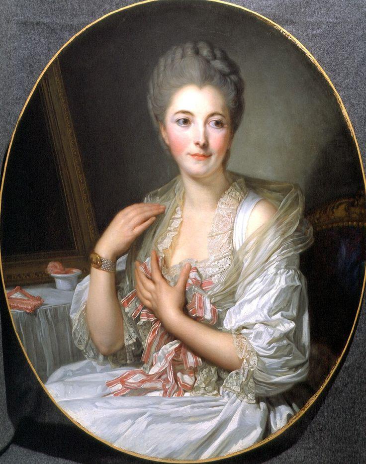 Jean-Baptiste Greuze Portrait of Madame Courcelles painting size:  file size: 275 KByte