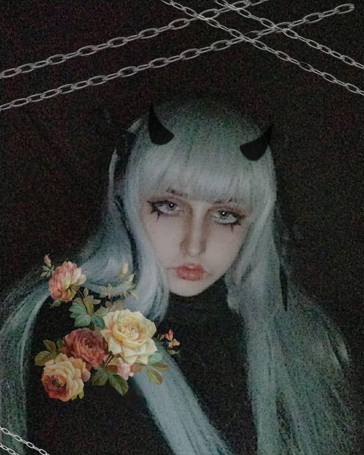 Idk . . . . . . #doll #dolls #makeup #devil #devils #flowers