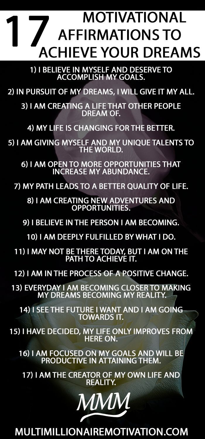 17 Motivational Affirmations to Achieve your Dreams