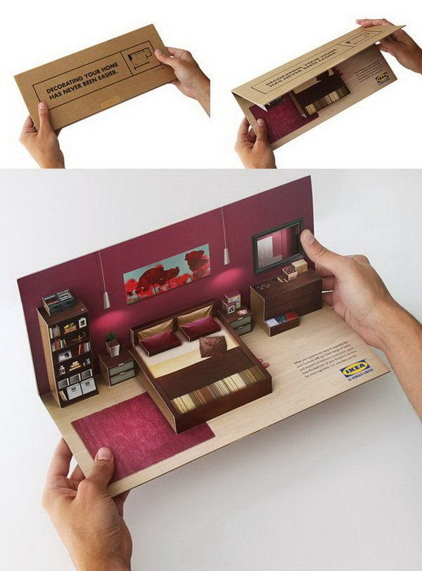 3D Pop Up Brochure   Ikea Flat Pack Direct Mailer. 17 Best images about BoxFox on Pinterest