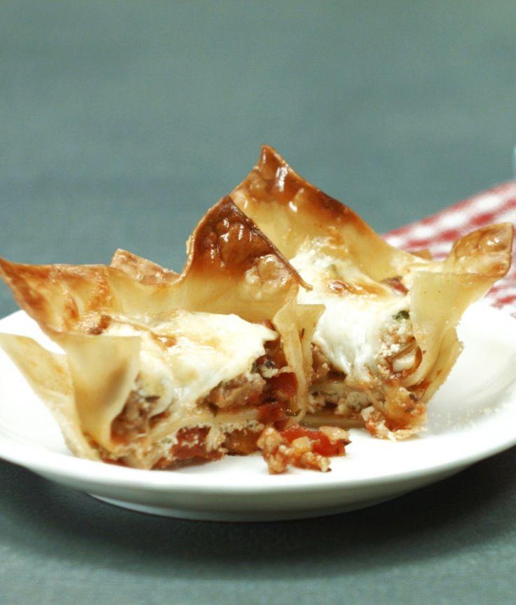 Mini-Lasagne aus der Muffin-Form