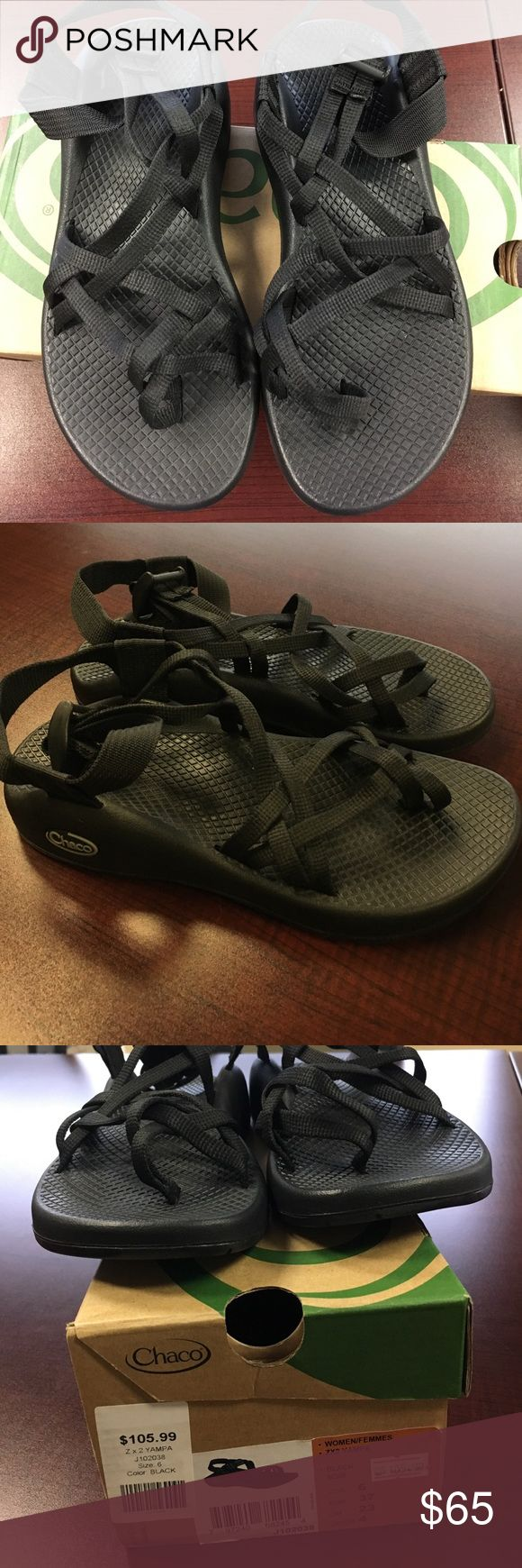 🔥🔥Chaco women's black ZX2 Yampa sandals Chaco women's ZX2 black Yampa sandals. These are amazing quality sandals and are brand-new in the box. This is the best online price you will find on Chaco sandals. Chaco Shoes Sandals