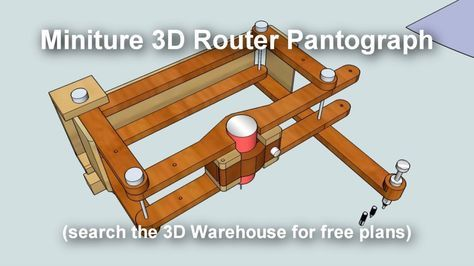 pantograph that can be used with dremel with 2:1 or 3:1 ratios.  https://3dwarehouse.sketchup.com/model.html?id=ub7019ce4-41a8-4e34-a399-f4df839e9fdd