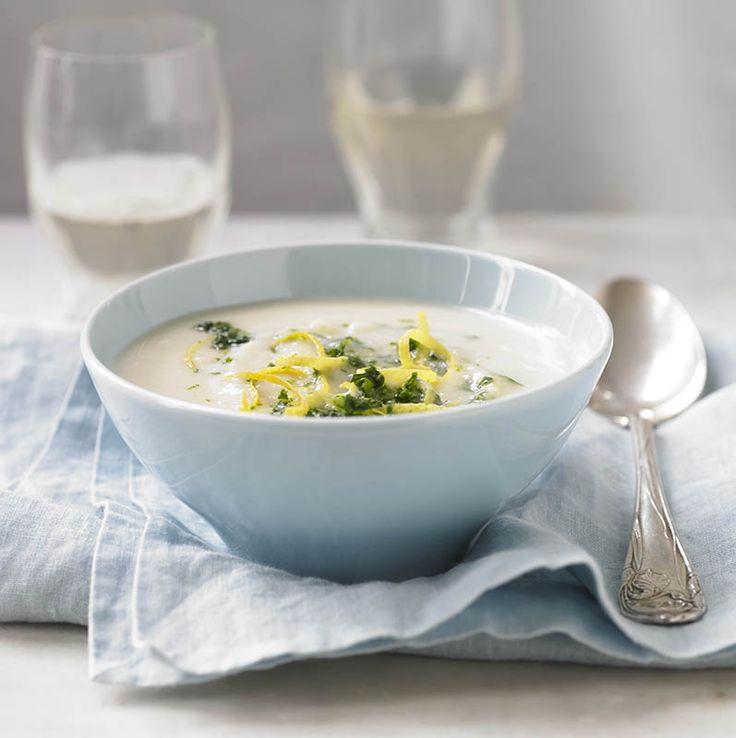 Creamy Cauliflower and Potato Soup #recipe using #soymilk #soyswaps to make it #vegan #soyfoodsmonth