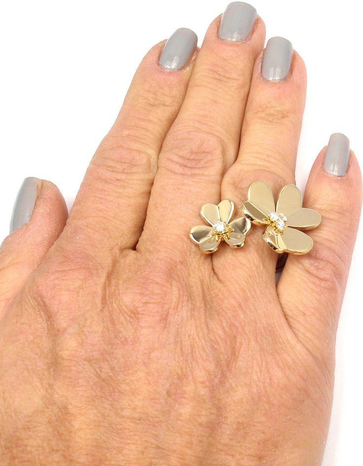 van cleef u0026 arpels frivole diamond gold between the finger ring