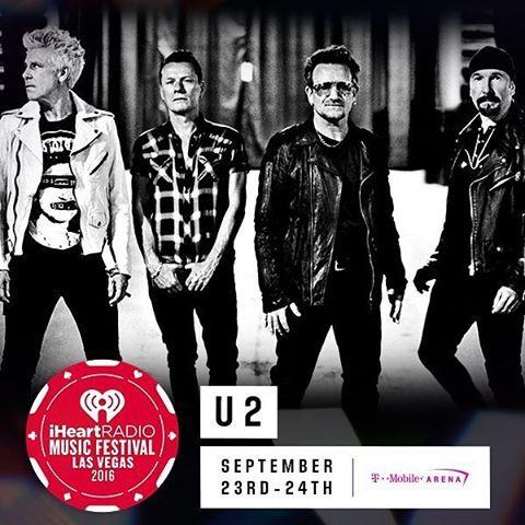 #U2 en el #iHeartRadio Music Festival 2016 el 23 de Septiembre en #LasVegas…