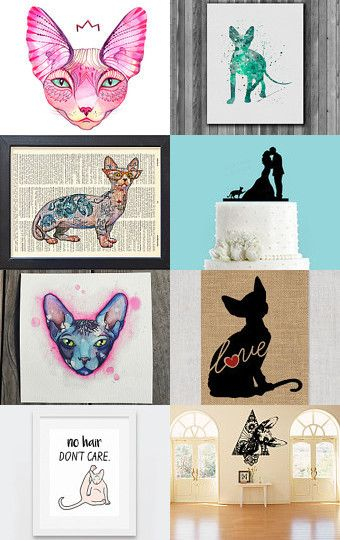 Sphynx is love by Funky Mondays on Etsy--Pinned with TreasuryPin.com