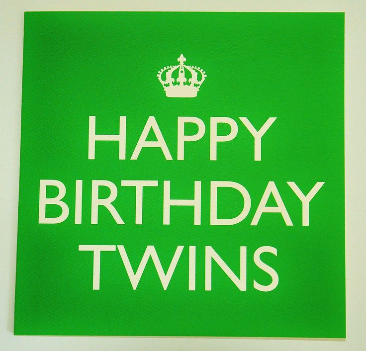 Happy Birthday Twins Card available from www.twinsgiftcompany.co.uk please visit to view our superb selection of products for twins, multiples and their families.