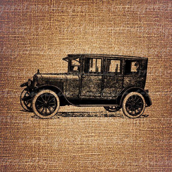 Essex Sedan Antique Car Digital Printable by VintageRetroAntique