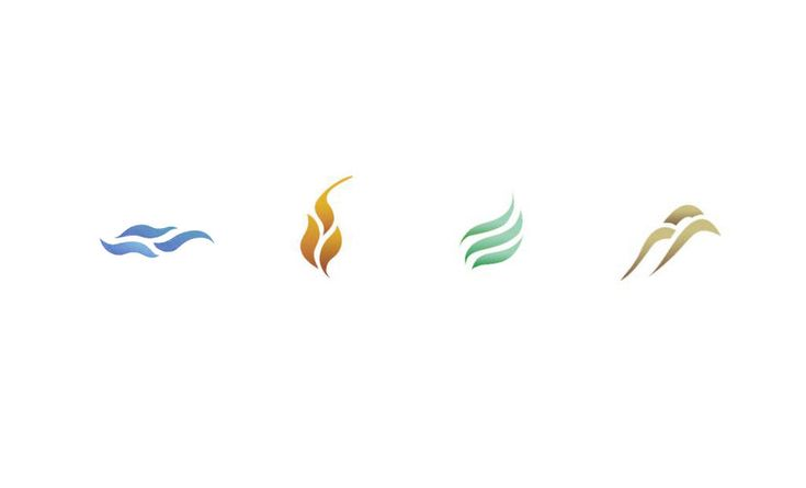 Four Elements: Iconic Symbol Design by SapphireStar4eva