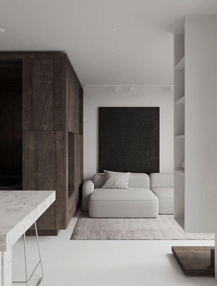 Contemporary Minimalistic Small Apartment Wit Interior Design