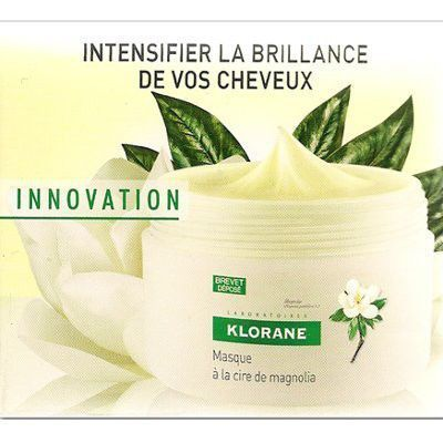 #Masque à la Cire de Magnolia 150 ml - KLORANE - Masque brillance intense et réparation est utilisé pour le #soin capillaire, #cheveux ternes et abîmes, à base de Cire de Magnolia et d'un complexe activateur de brillance, à action réparatrice, hydratante et nutritive !