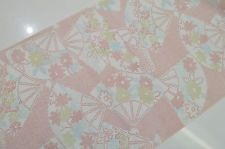 UN-USED MIXED KIMONO BOLT:Lovely Floral Folding Fan/Chrysanthemum@q15