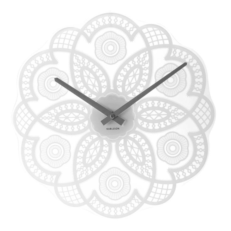 Karlsson Lace Cut Out Wall Clock