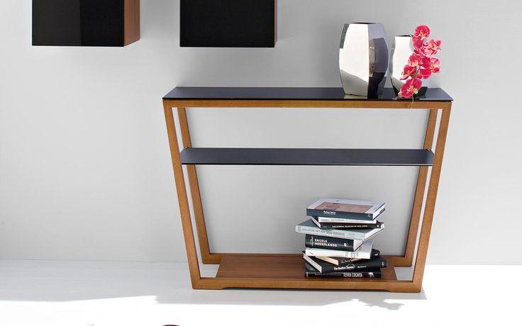 Element: consolle in vetro e struttura in legno - Calligaris CS/5044-A