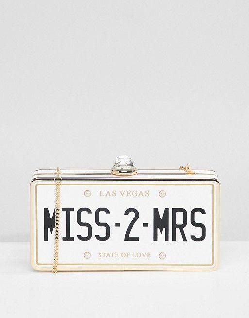 c23b9ba4dc1 ALDO Bridal Miss 2 Mrs Clutch Occasion Bag | wedding | Occasion bags,  Wedding dresses, Bridal