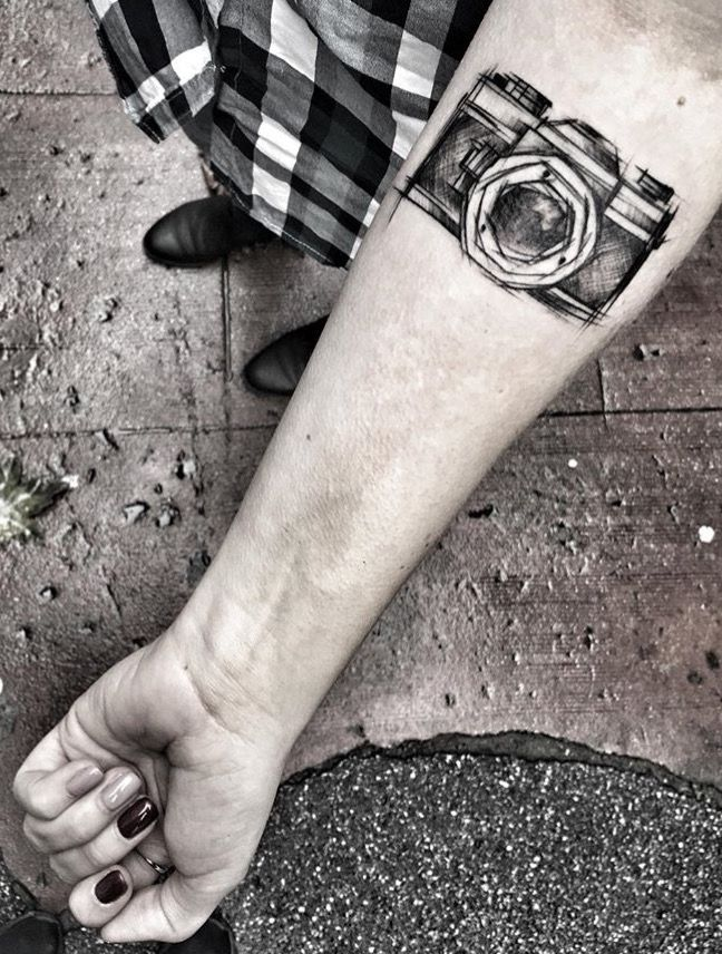 Inez Janiak camera tattoo                                                                                                                                                                                 More
