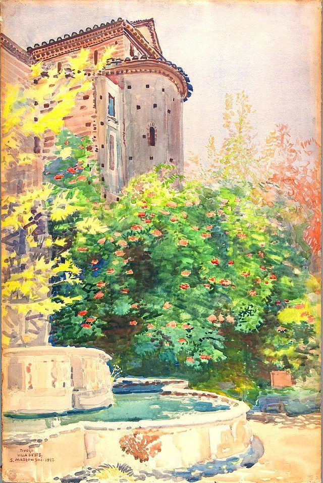 Stanisław Masłowski (1853-1926), Tivoli, Villa d'Este, watercolour, 1922 - Stanisław Masłowski - Wikipedia, the free encyclopedia