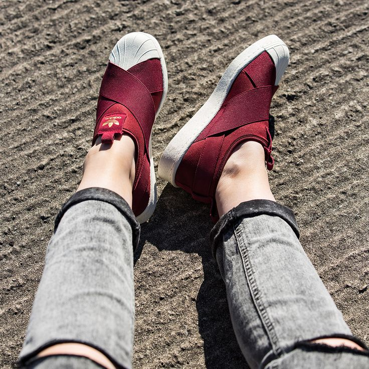 Adidas Superstar Slip On Burgundy