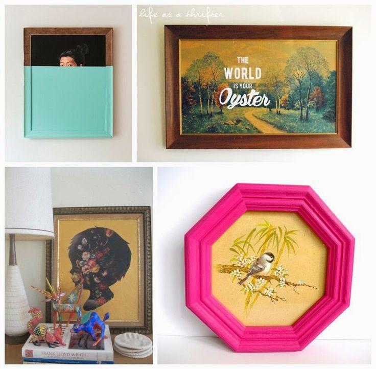 Maker Mama Craft Blog: 7 Simple Ways to Upgrade Thrift Store Art #sp @Louisa Jane Goodwill SA
