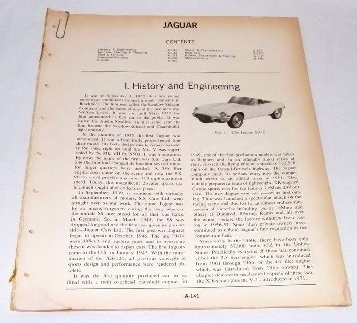 8 best auto repairs images on pinterest repair manuals engine and jaguar xke e xj6 sedan v 12 1973 motors imported car fandeluxe Choice Image