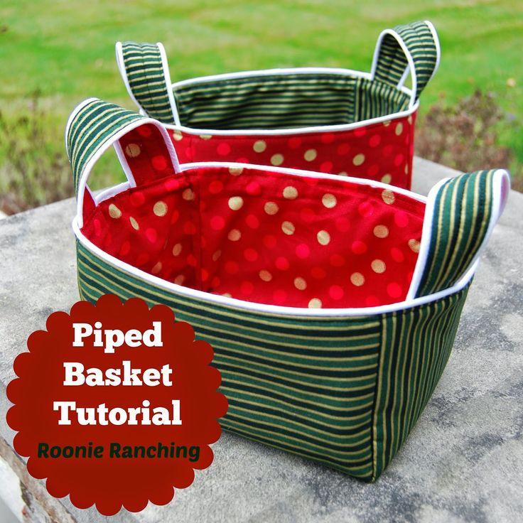 Piped Basket -- Sewing Tutorial | Utensilo mit Paspel und Henkeln - Anleitung free