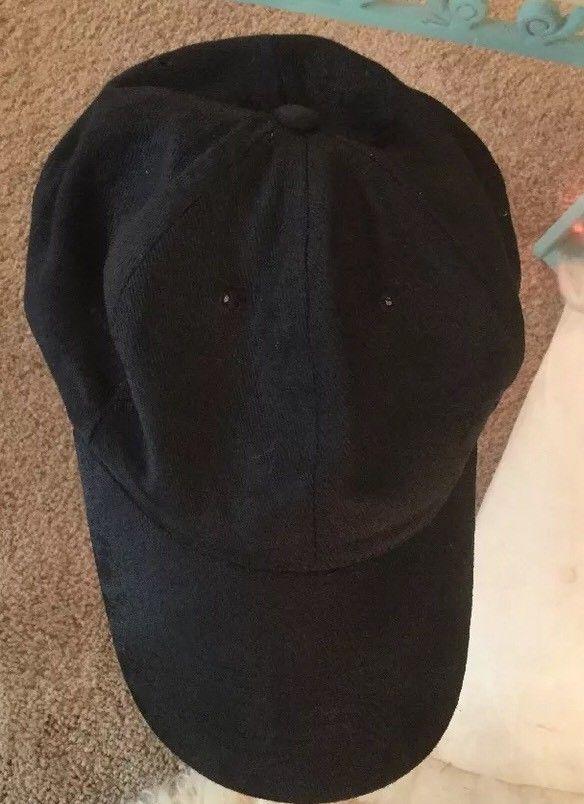 Brushed Plain Black Ball Caps LOT of 4 Blanks Adjustable Baseball Solid Ballcap    eBay