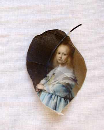 Alangium leaf printed with the Rijksmuseum painting by PuurAnders