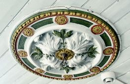 Rosett - Original ornamentel periode feature in the ceiling in Villa Wessel.