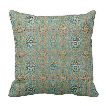 Outdoor-Indoor-Blue-Cream--Damask-Pillow-Sets Throw Pillow - stylish gifts unique cool diy customize