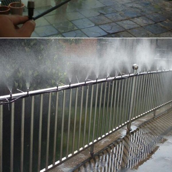 Gforest Garden Patio Misting Cooling System Water Automatic Mist Nozzle For Garden Yard Patio Mister Backyard Spaces