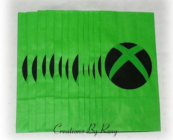 Xbox Treat bags Set of 12 by CreationsbyRoxy on Etsy