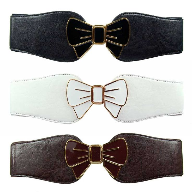 Bow buckle clip on stretch belt