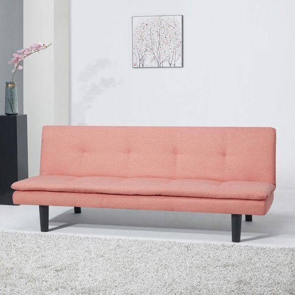 Balance approachable, transitional appeal with on-trend midcentury looks in your seating group or entertainment area with this absolutely chic sleeper sofa, the perfect piece for your well-curated and cozy space. Featuring a clean-lined wood frame wrapped in foam-filled fabric upholstery, this sofa makes a subtle touch in any room, while the gently button-tufted details and armless design evoke Art Deco designs and trendy turn-of-the-century looks. Expecting guests this weekend? No…
