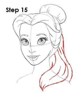 how to draw belle step by step slowly
