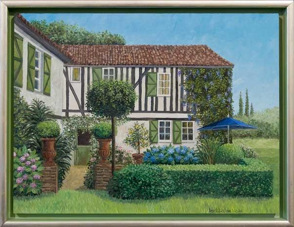 Laetitia de Haas - Huis in Frankrijk / House in France - Olieverf