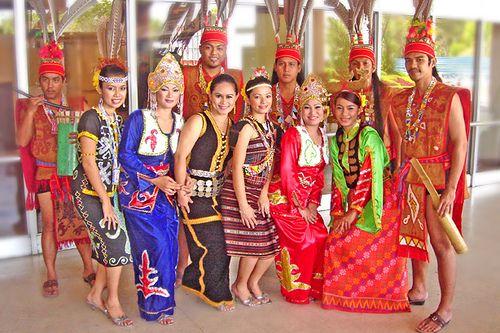 traditional costume of Sabah (Malaysia)