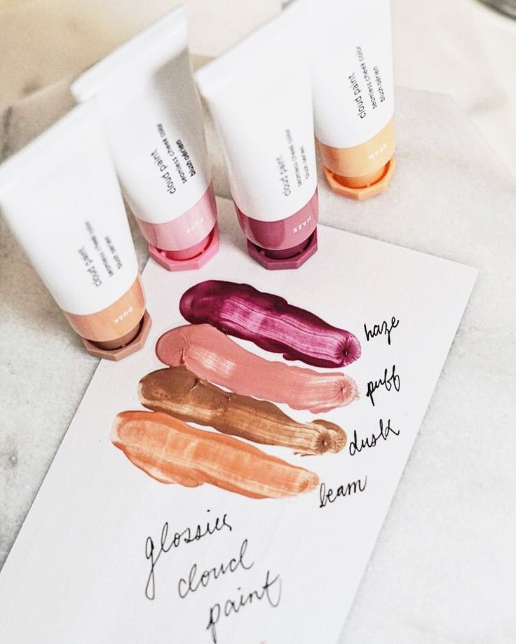 Glossier Cloud Paints swatches review