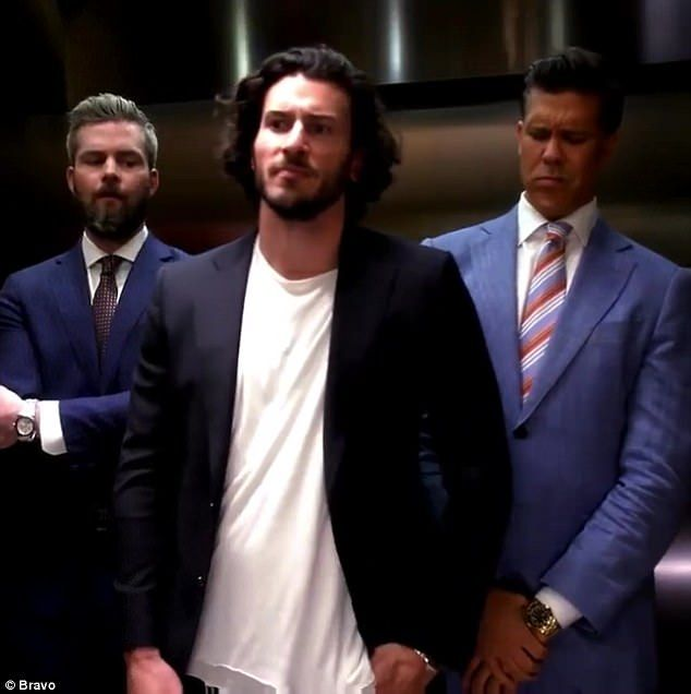 Sizing up the competition: (L-R)Ryan Serhant,Steve Gold andFredrik Eklund appear in a newly-released preview forMillion Dollar Listing's sixth season