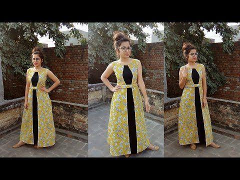 0d0abea1a1 Designer a line kurti cutting and stitching - YouTube