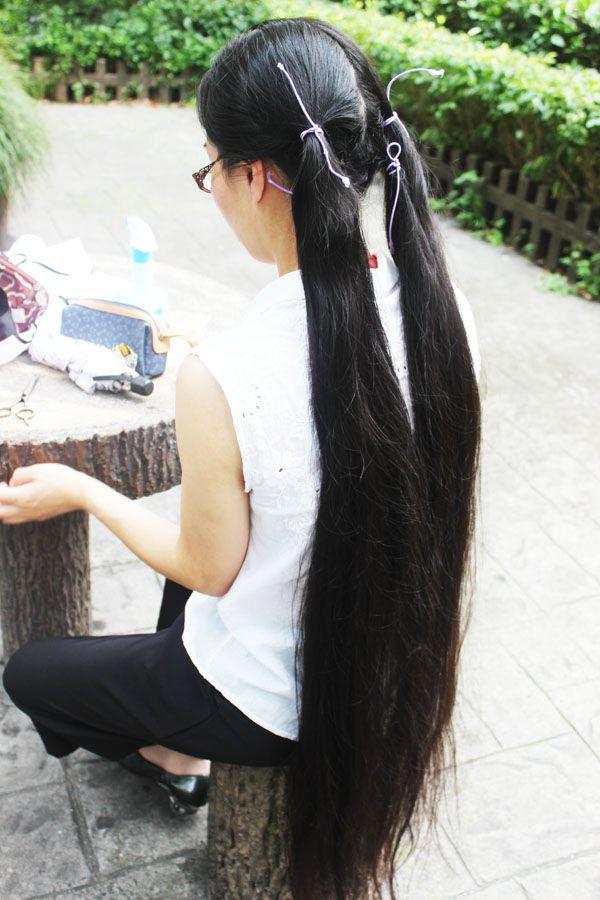 how to cut super long hair