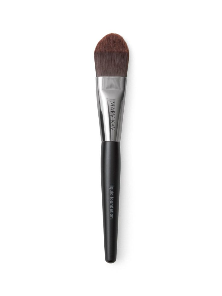 Mary Kay® Liquid Foundation Brush, $10 - The Liquid Foundation Brush is specially designed to deposit the right amount of liquid foundation for a precise, even and smooth application. The bristles are tapered so you can easily customize the level of coverage. The end result is a perfectly flawless finish. Please click on picture to go to this product page of my Mary Kay website.
