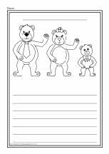 Goldilocks and the Three Bears colour and write worksheets