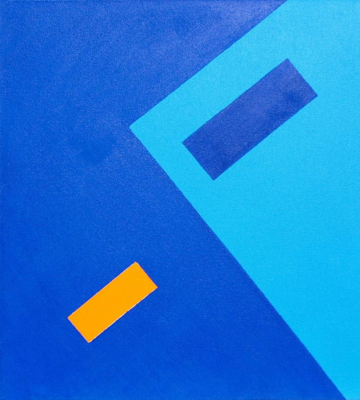 """""""Diving Area"""" (2011) ~ 22in x 20in ~ acrylic on canvas"""