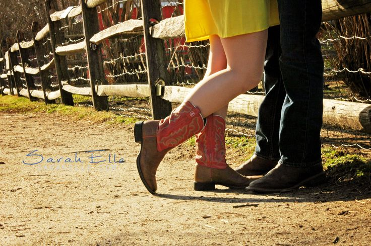 Sarah Elle Photography, country couple, boots, cowboy ...